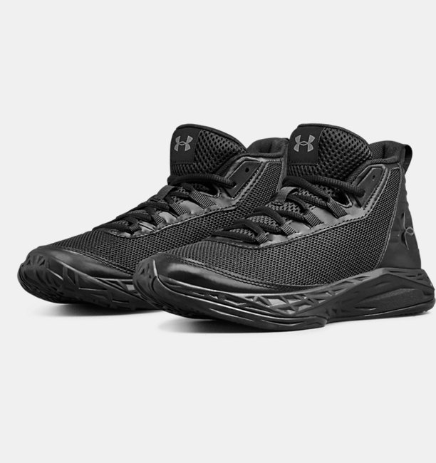 Boys Grade School UA Jet 2018 SYN Basketball Shoes