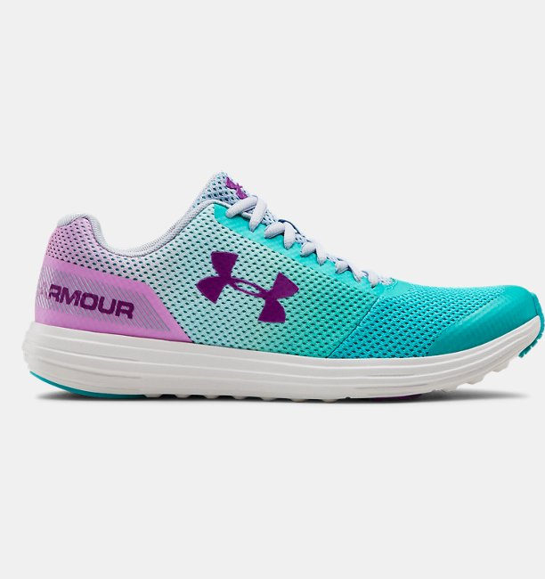 Girls Grade School UA Surge RN Prism Shoes