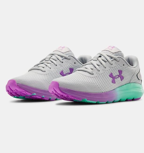 Girls Grade School UA Surge 2 Fade Running Shoes