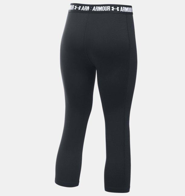 Girls UA HeatGear® Armour Solid Capris