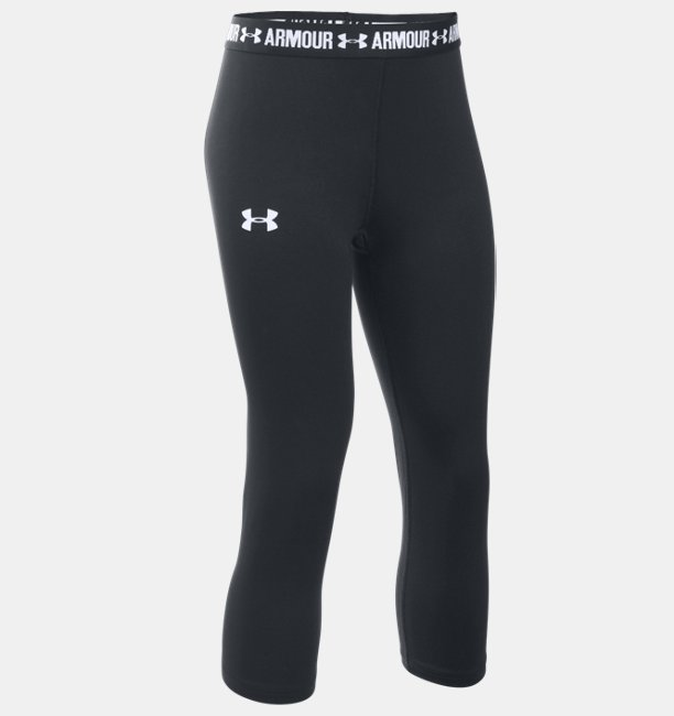 80fa1e3629 Girls  UA HeatGear® Armour Solid Capris