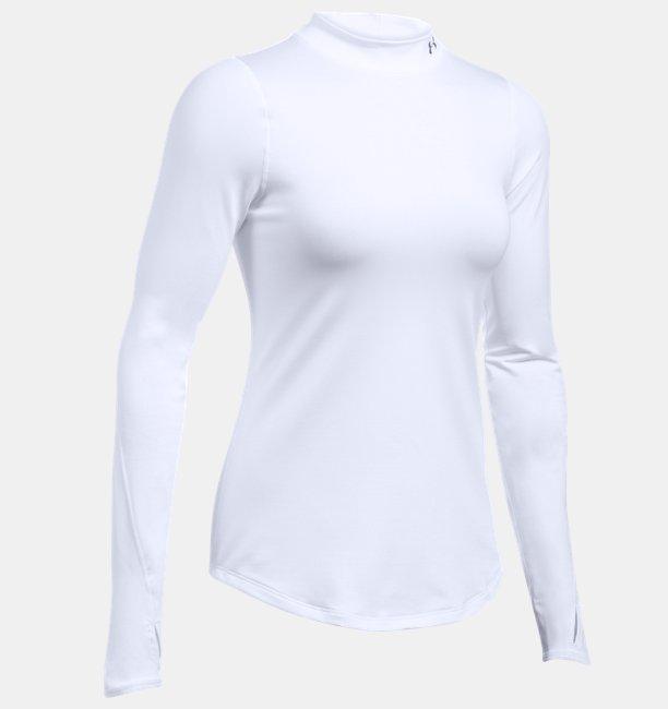 a183ad7826549 Playera de Cuello Cerrado ColdGear® Armour Fitted para Mujer