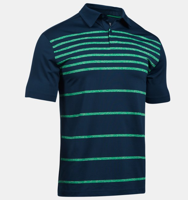 Mens UA CoolSwitch Brassie Stripe Polo