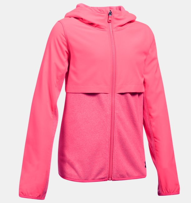 Girls UA Phenom Fleece Full Zip Hoodie