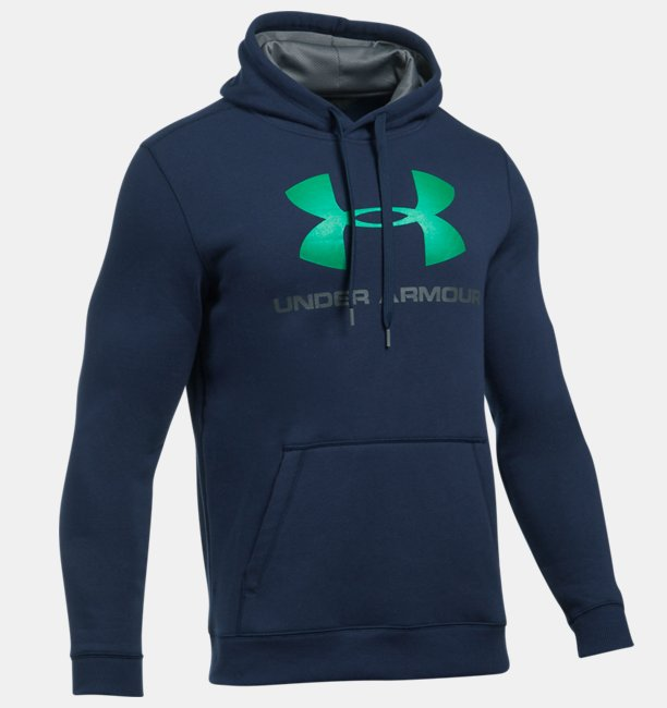 d5af1022f85 Moletom UA Rival Fleece Fitted Graphic Masculina