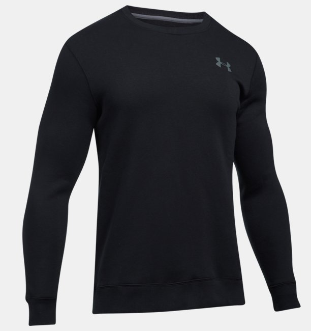 Mens UA Rival Fleece Solid Fitted Crew