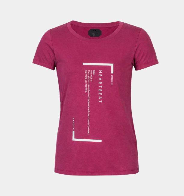 여성 UA 언스타퍼블 하트비트 티셔츠