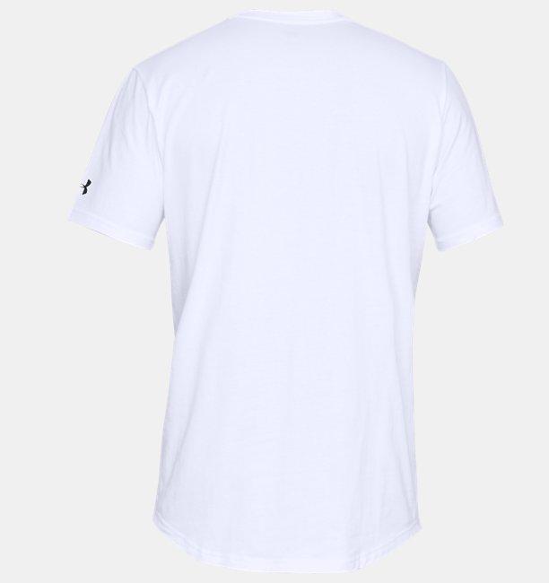 Mens UA Sportstyle Woven Script T-Shirt