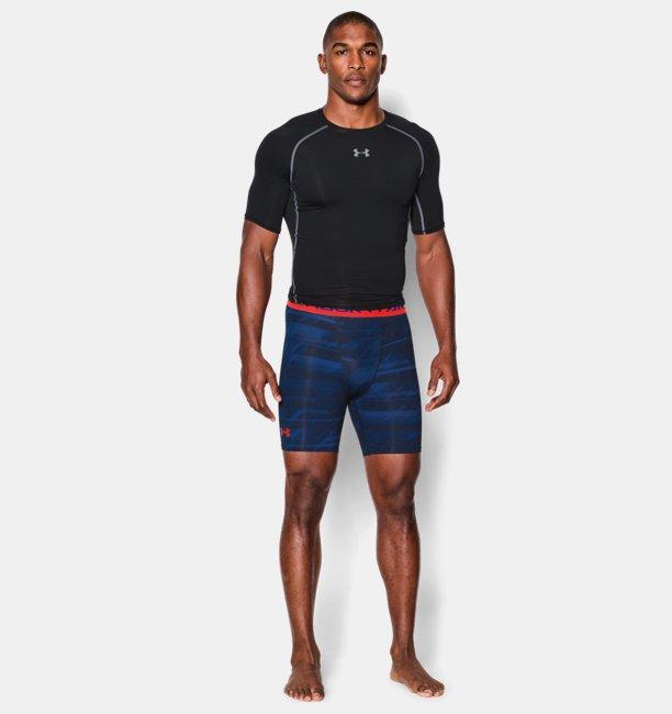 9a3837eaf3fb3 Men s UA HeatGear® Armour Printed Compression Shorts