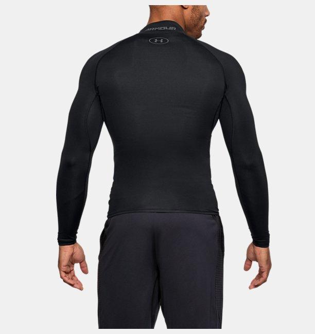 남성 HeatGear® 아머 컴프레션 긴팔 모크넥 티셔츠