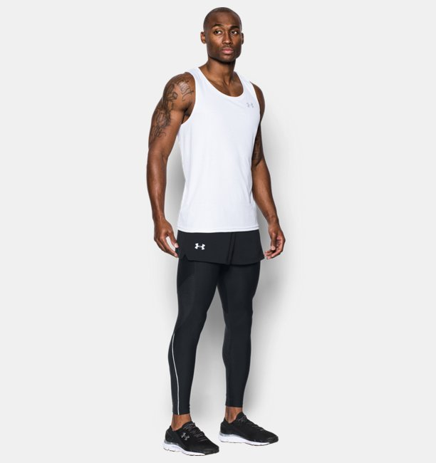 Mens UA Launch Split Shorts
