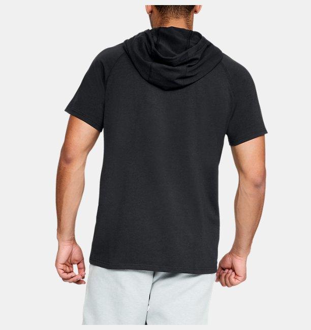 Mens UA Unstoppable Short Sleeve Hoodie