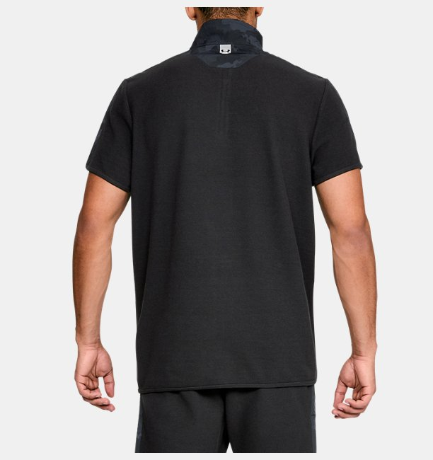 Mens UA Unstoppable Short Sleeve ½ Zip
