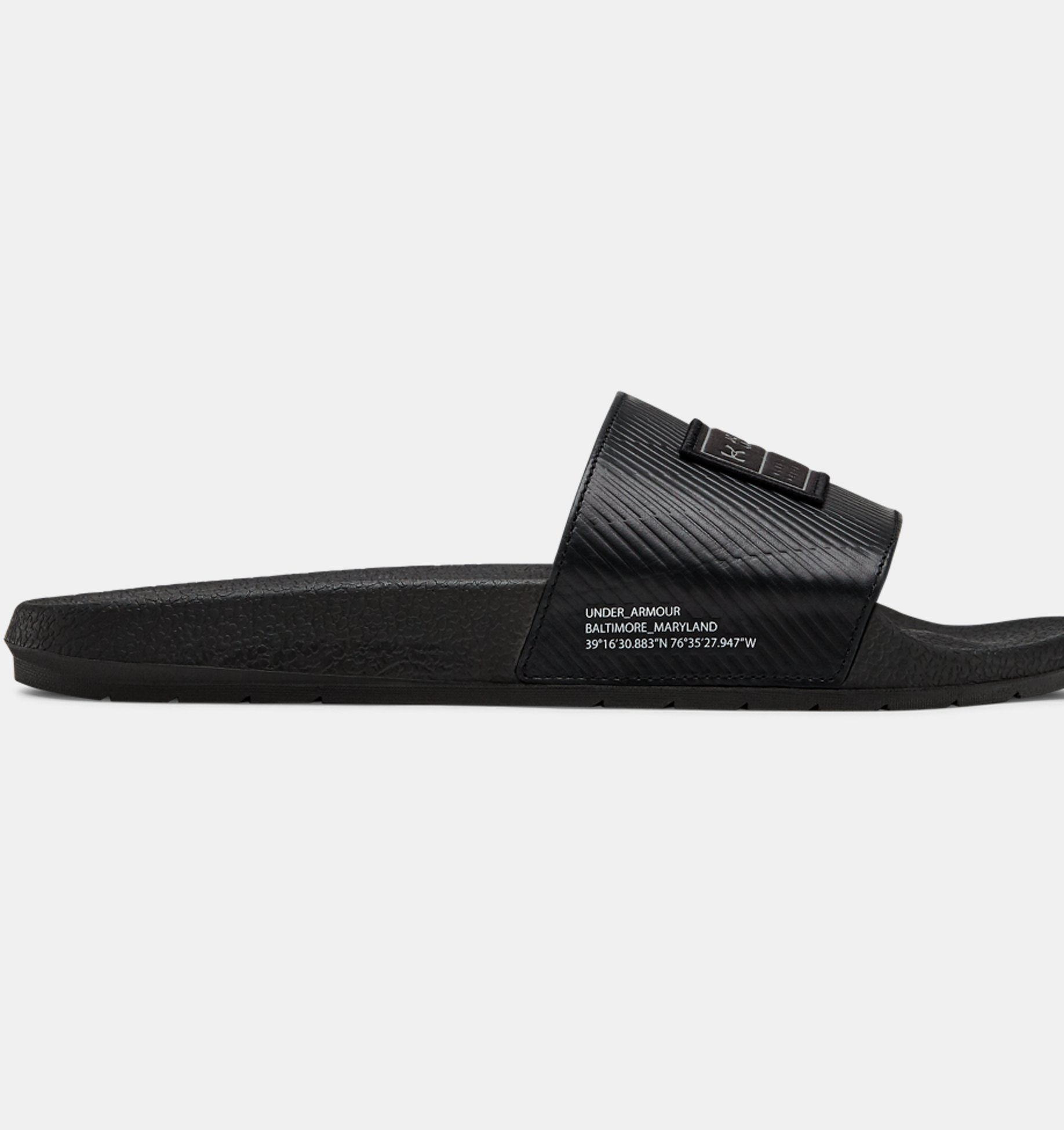 20bd4953894c ... UA Core Remix Leather Slides ...
