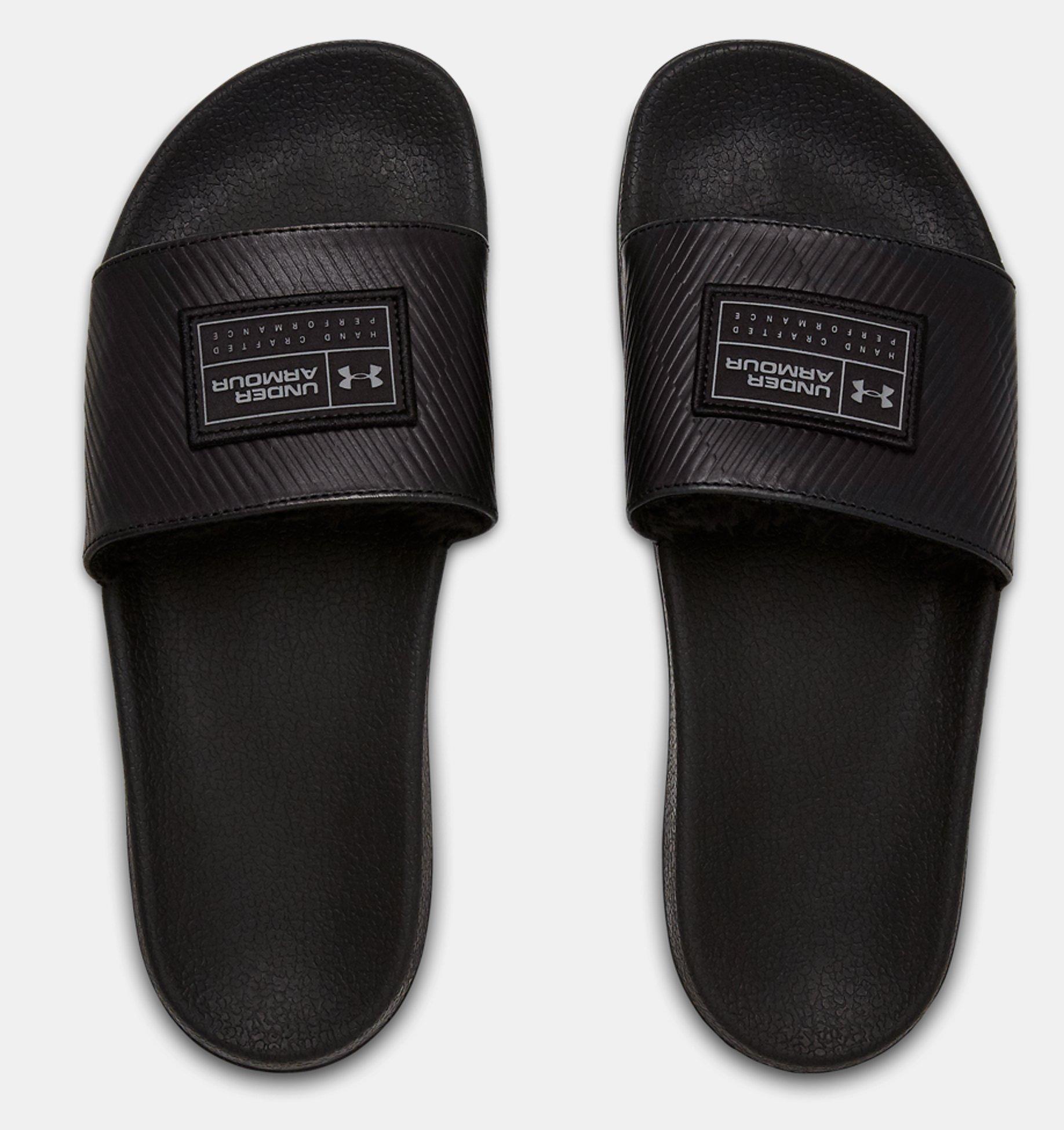 d765d5ac414b ... UA Core Remix Leather Slides