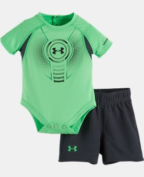 Boys' Newborn UA Logo Shield Bodysuit Set   $24.99