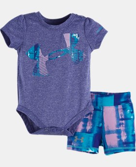 Girls' Newborn UA Paint Plaid Bodysuit
