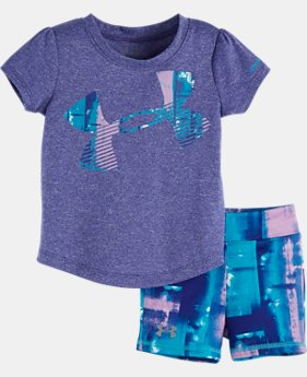 Girls' Infant UA Paint Plaid Set