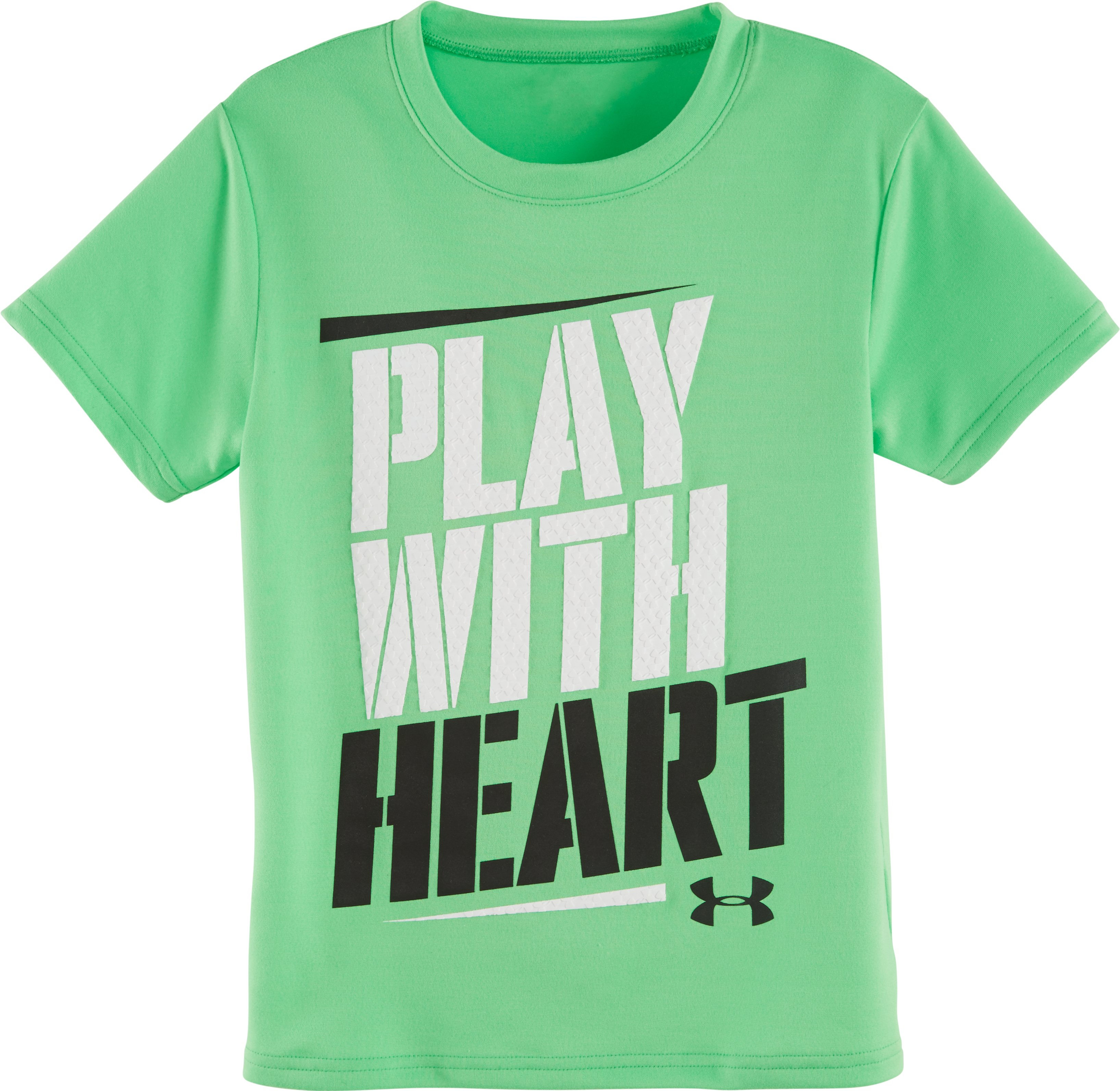 Boys' Infant UA Play With Heart T-Shirt, LASER GREEN, Laydown