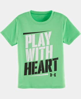 Boys' Pre-School UA Play With Heart T-Shirt  LIMITED TIME: FREE SHIPPING 1 Color $13.99