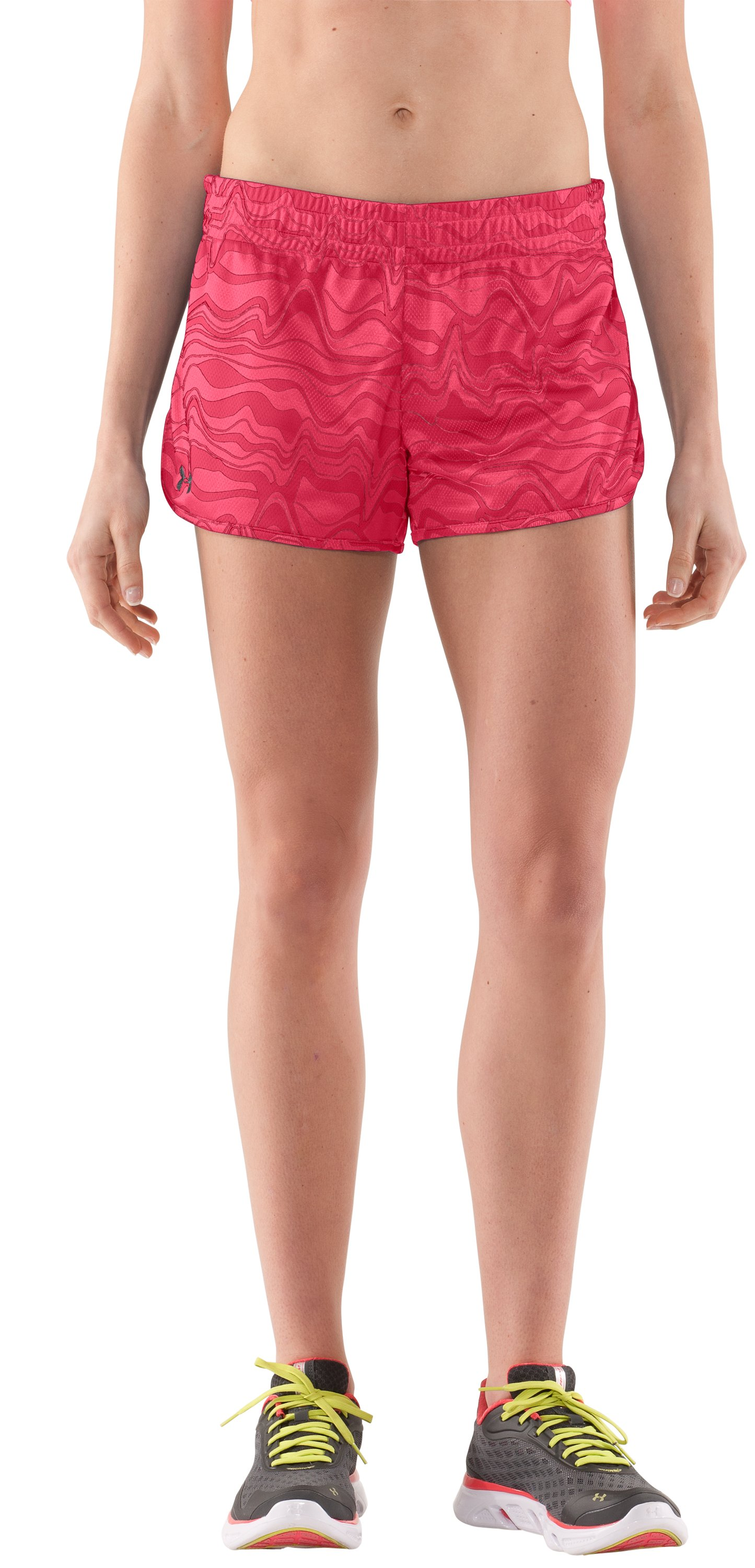 Women's UA Tidal Swell Shorts, Hibiscus, zoomed image